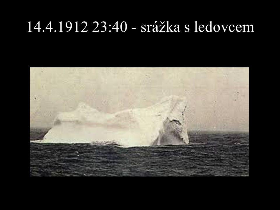 14.4.1912 23:40 - srážka s ledovcem