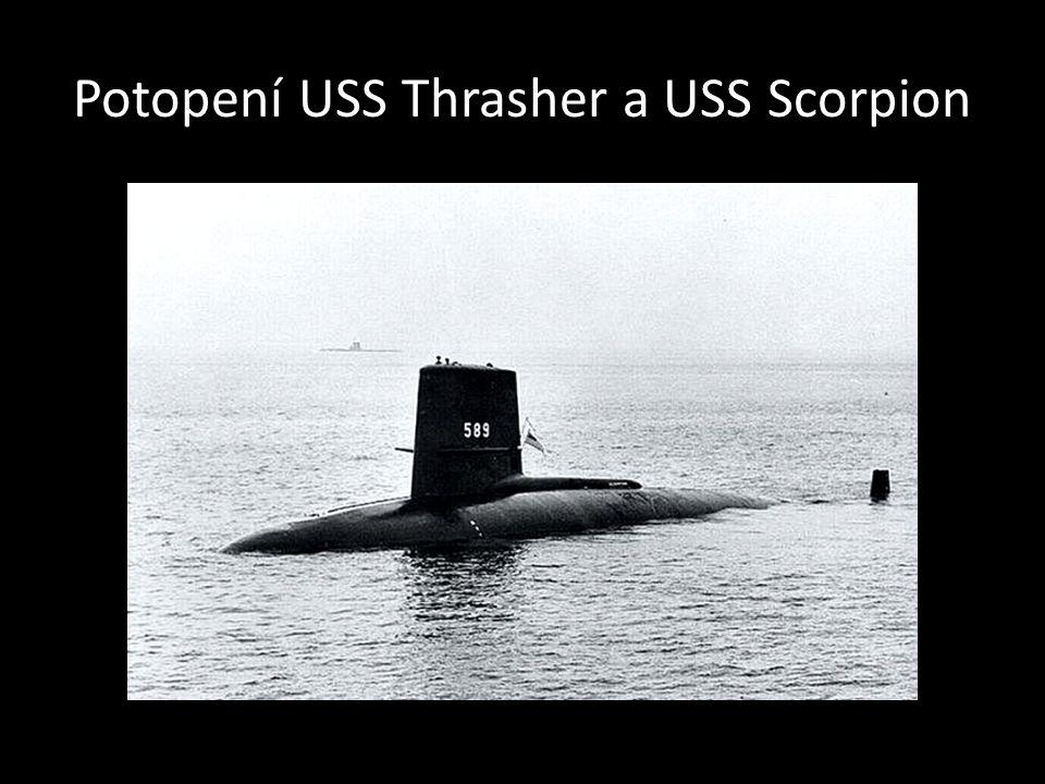 Potopení USS Thrasher a USS Scorpion