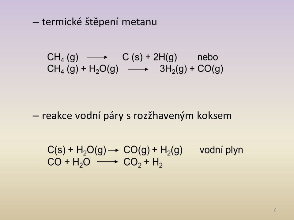termické štěpení metanu