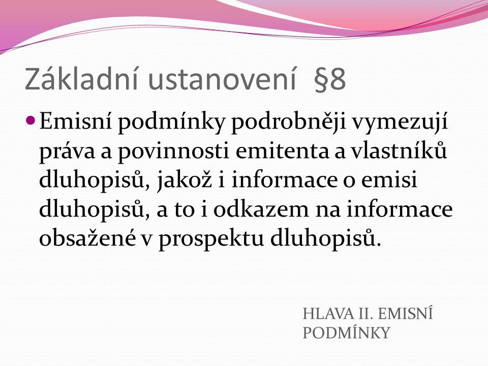 Základní ustanovení §8
