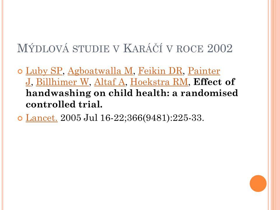 Mýdlová studie v Karáčí v roce 2002