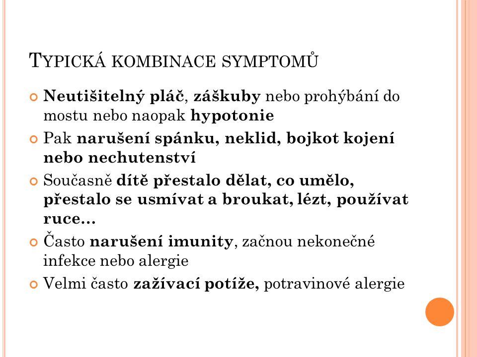 Typická kombinace symptomů
