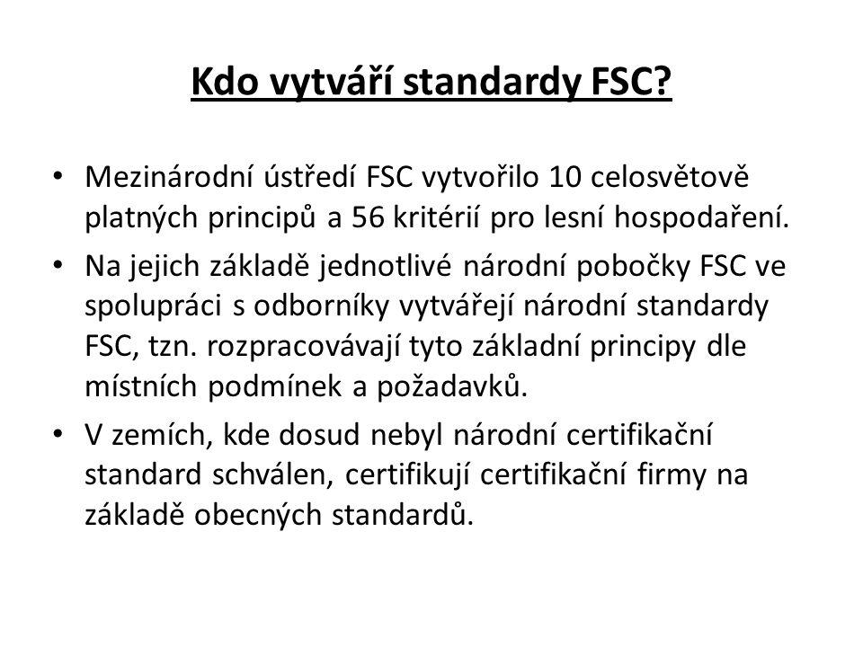 Kdo vytváří standardy FSC