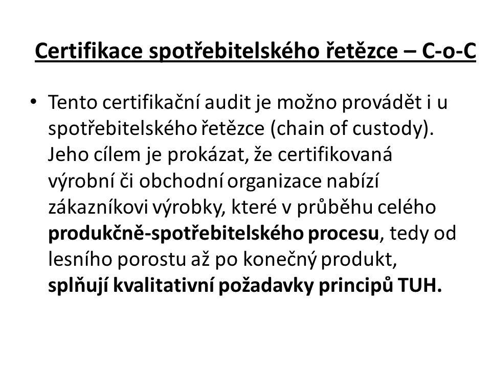Certifikace spotřebitelského řetězce – C-o-C