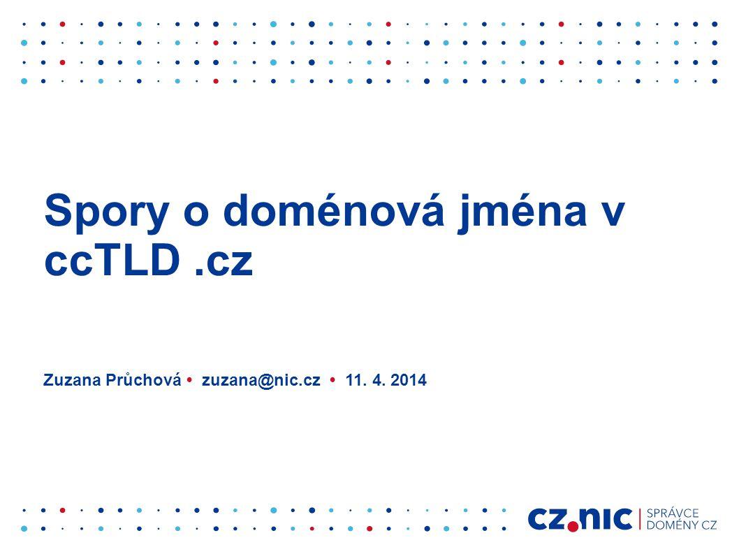 Spory o doménová jména v ccTLD .cz