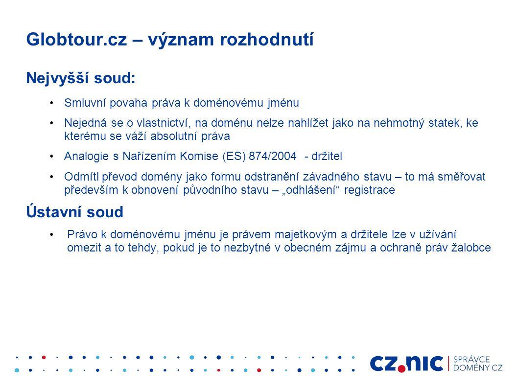 Globtour.cz – význam rozhodnutí
