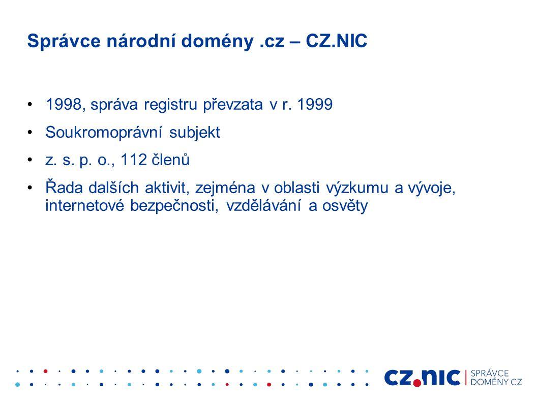 Správce národní domény .cz – CZ.NIC