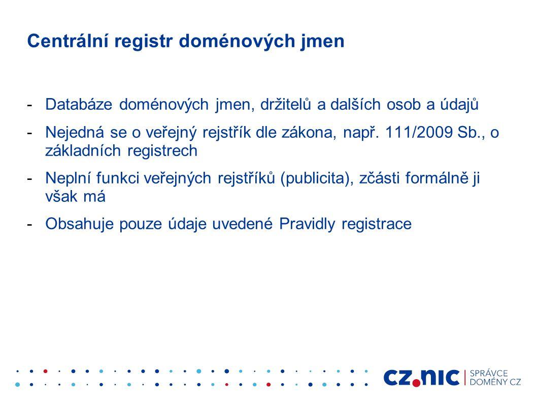 Centrální registr doménových jmen