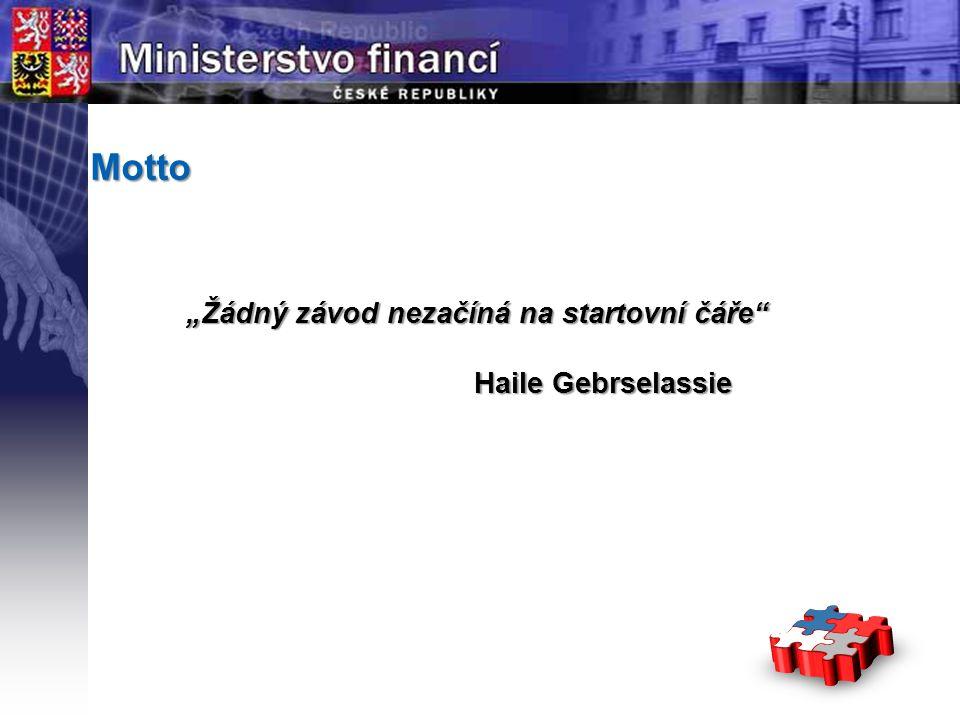 """Motto """"Žádný závod nezačíná na startovní čáře Haile Gebrselassie"""