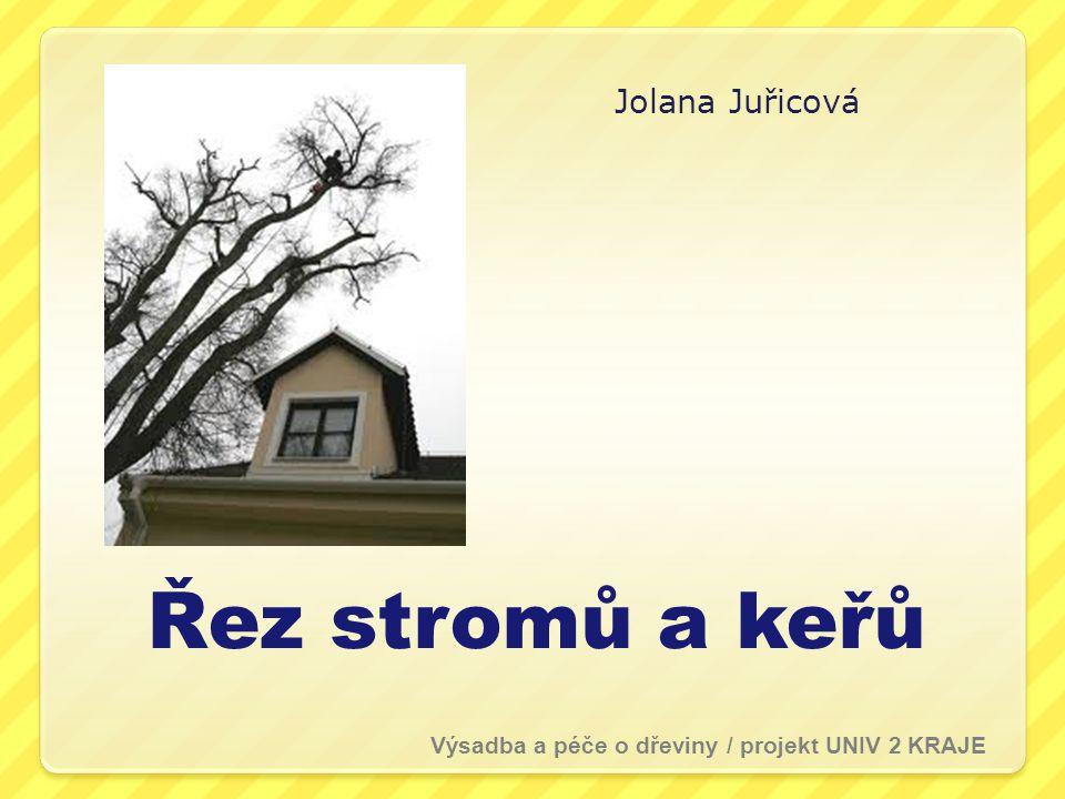 Řez stromů a keřů Jolana Juřicová