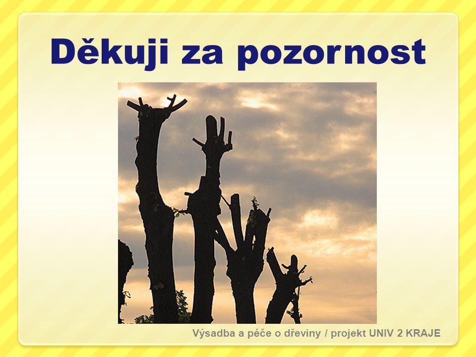 Děkuji za pozornost Výsadba a péče o dřeviny / projekt UNIV 2 KRAJE