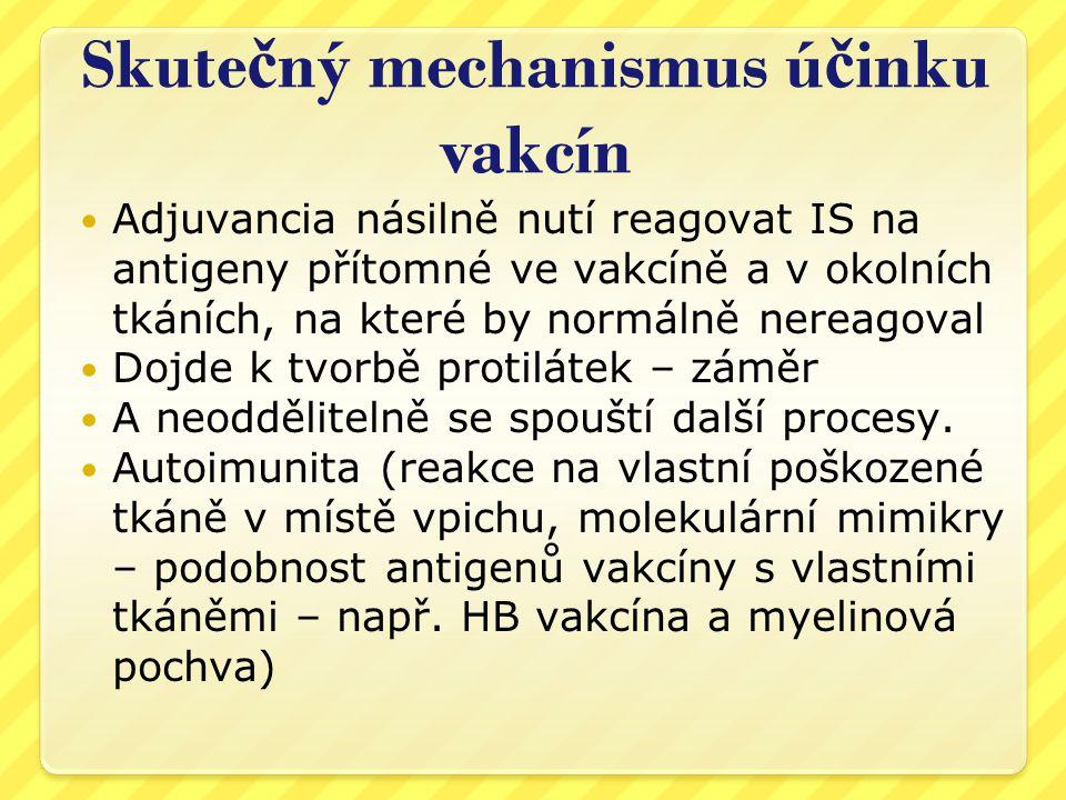 Skutečný mechanismus účinku vakcín