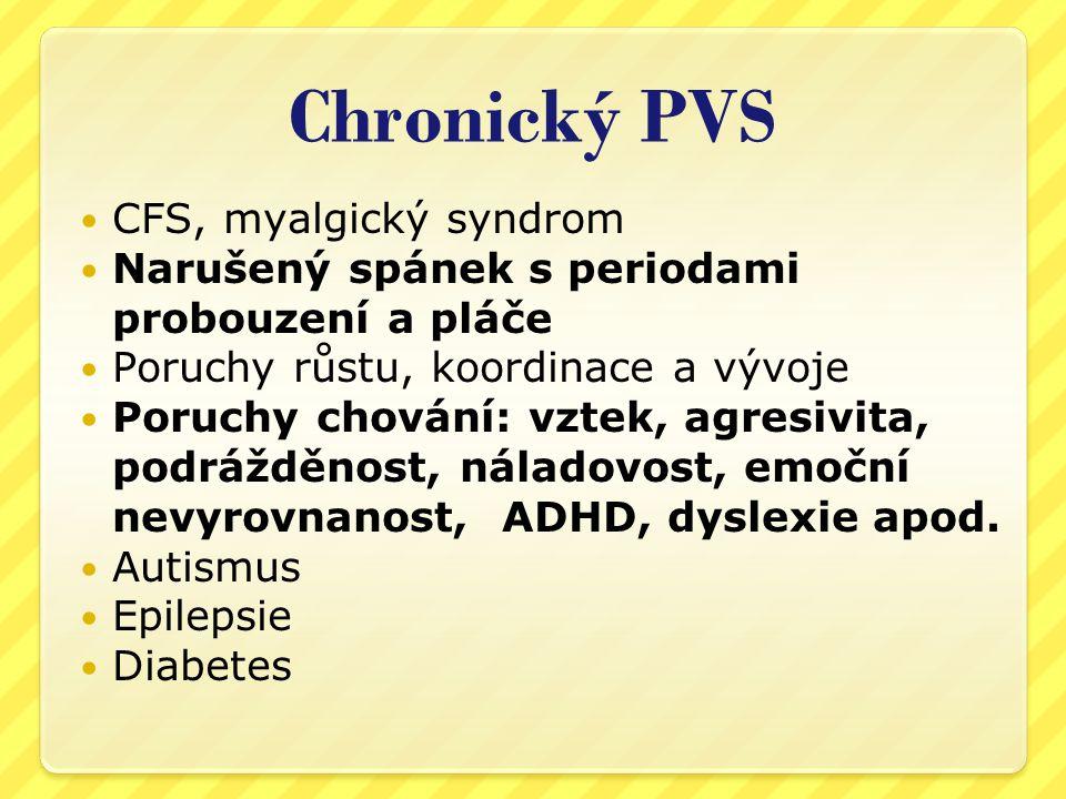 Chronický PVS CFS, myalgický syndrom