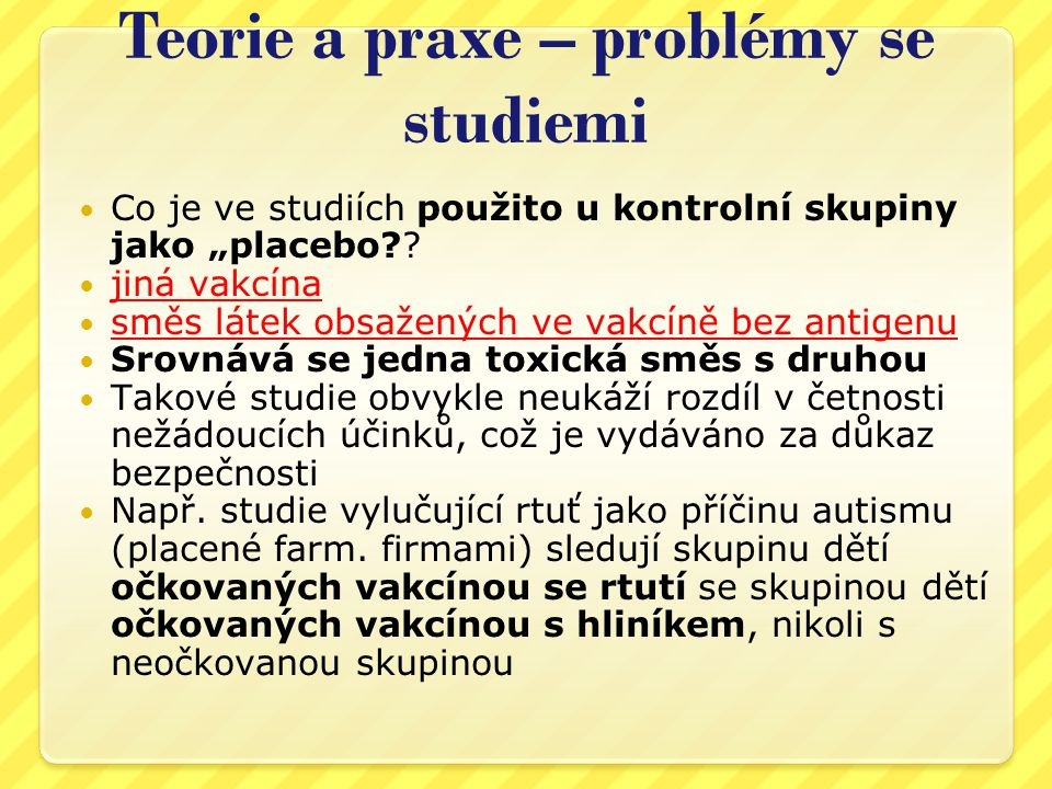Teorie a praxe – problémy se studiemi