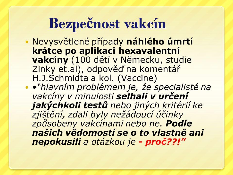 Bezpečnost vakcín