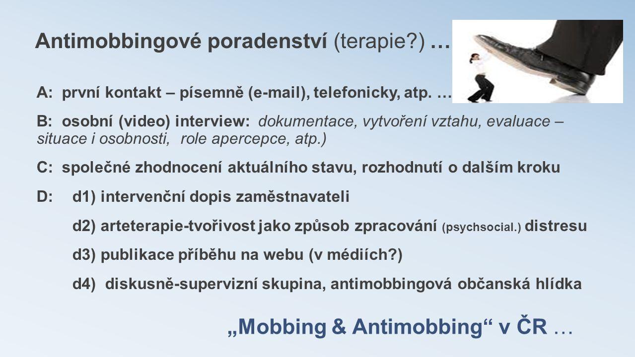 """Mobbing & Antimobbing v ČR …"