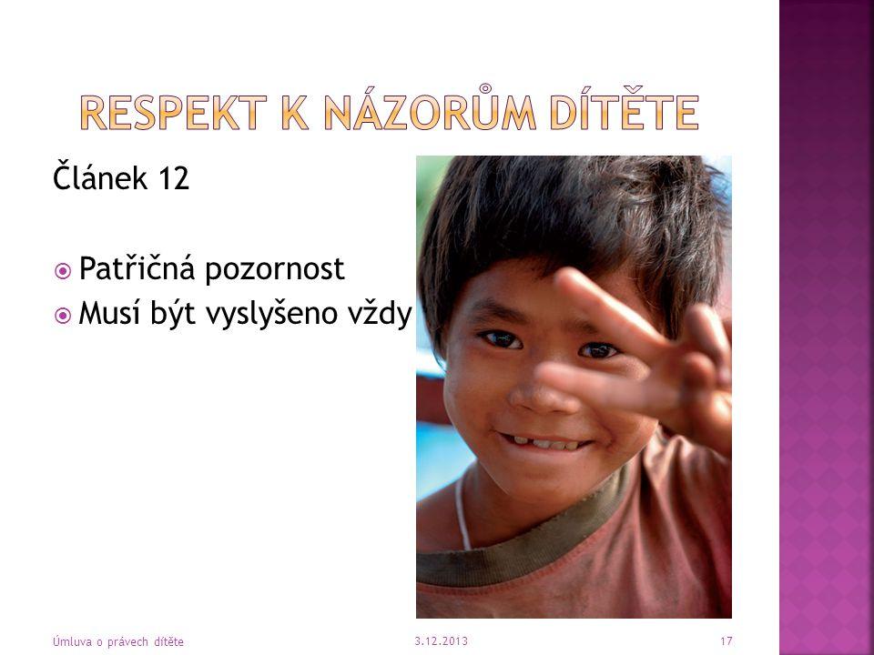 Respekt k názorům dítěte