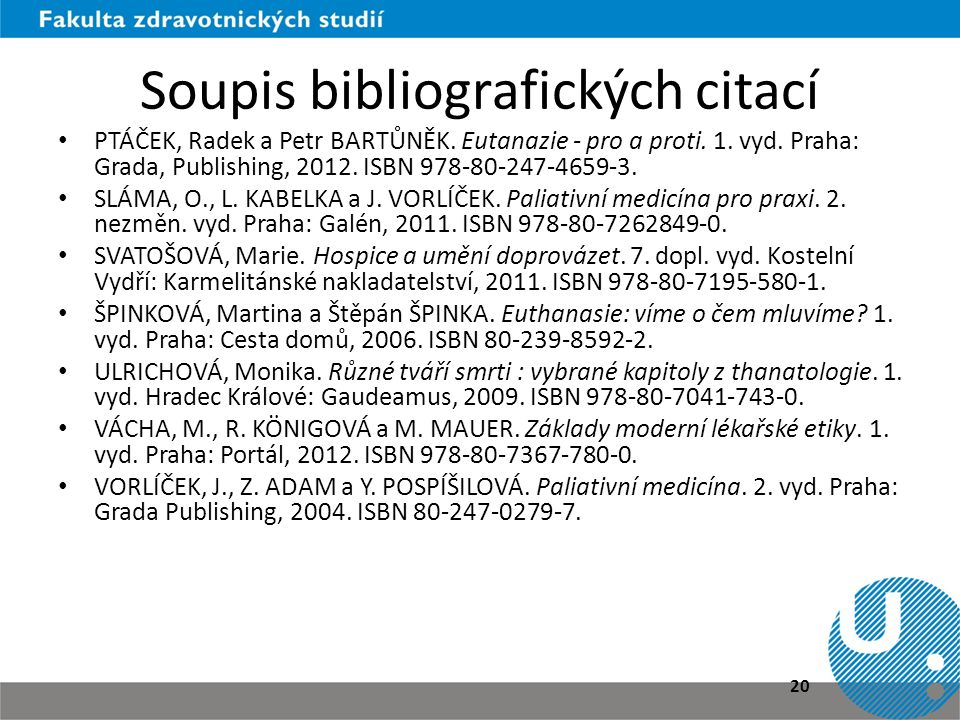 Soupis bibliografických citací