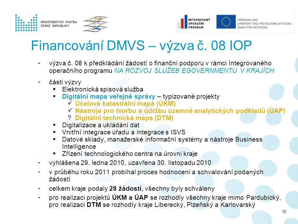 Financování DMVS – výzva č. 08 IOP