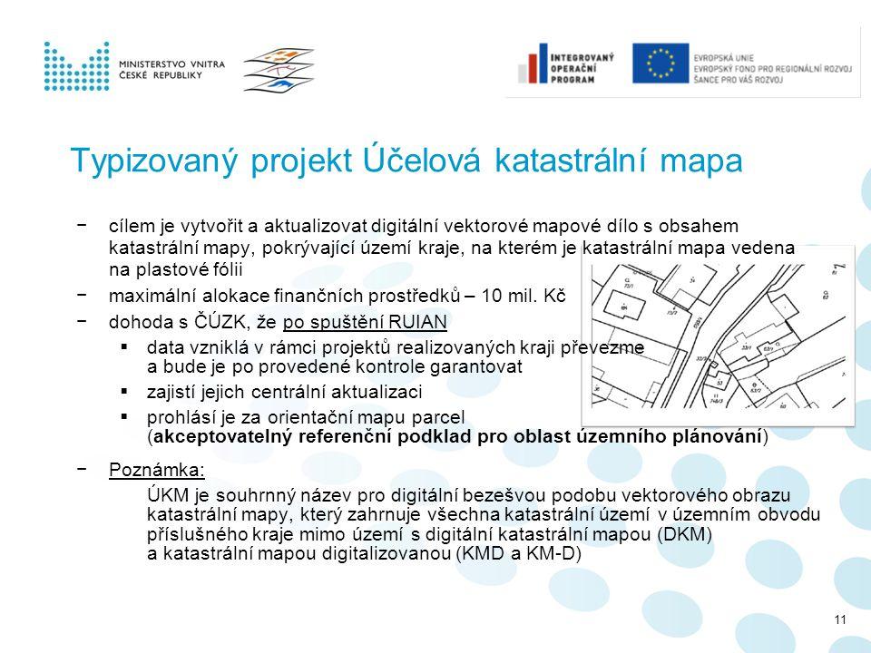 Typizovaný projekt Účelová katastrální mapa