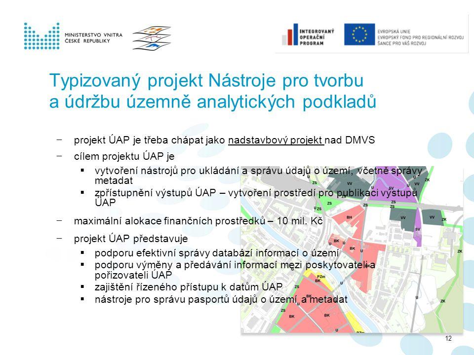 Typizovaný projekt Nástroje pro tvorbu a údržbu územně analytických podkladů