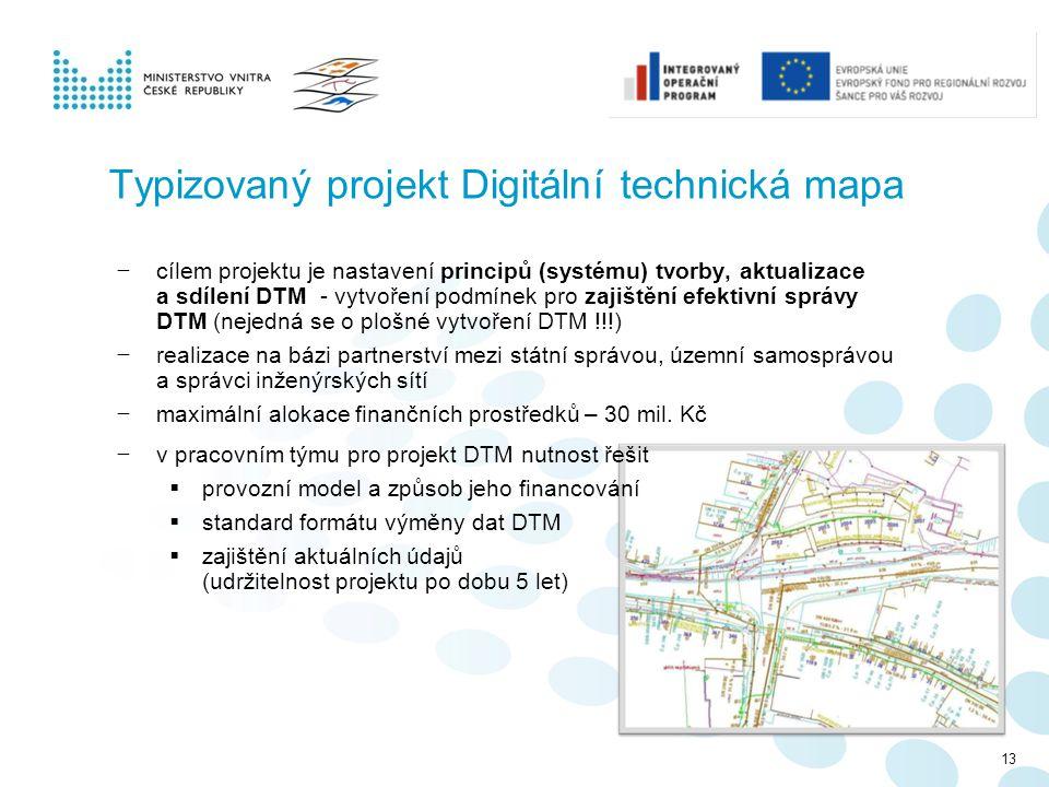Typizovaný projekt Digitální technická mapa