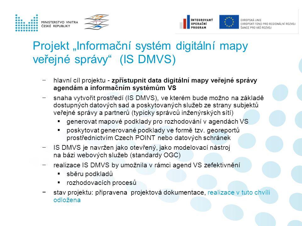 """Projekt """"Informační systém digitální mapy veřejné správy (IS DMVS)"""