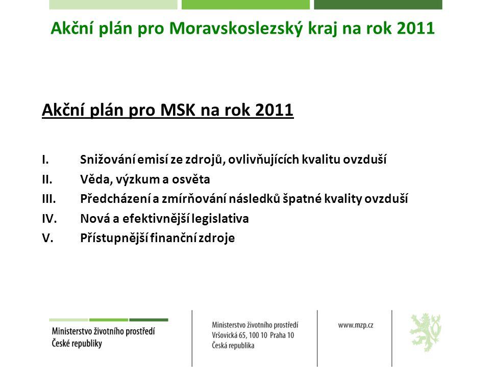 Akční plán pro Moravskoslezský kraj na rok 2011