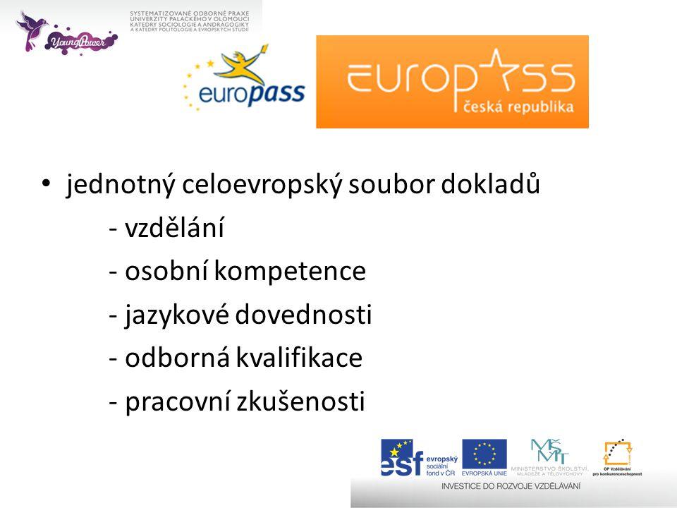 jednotný celoevropský soubor dokladů