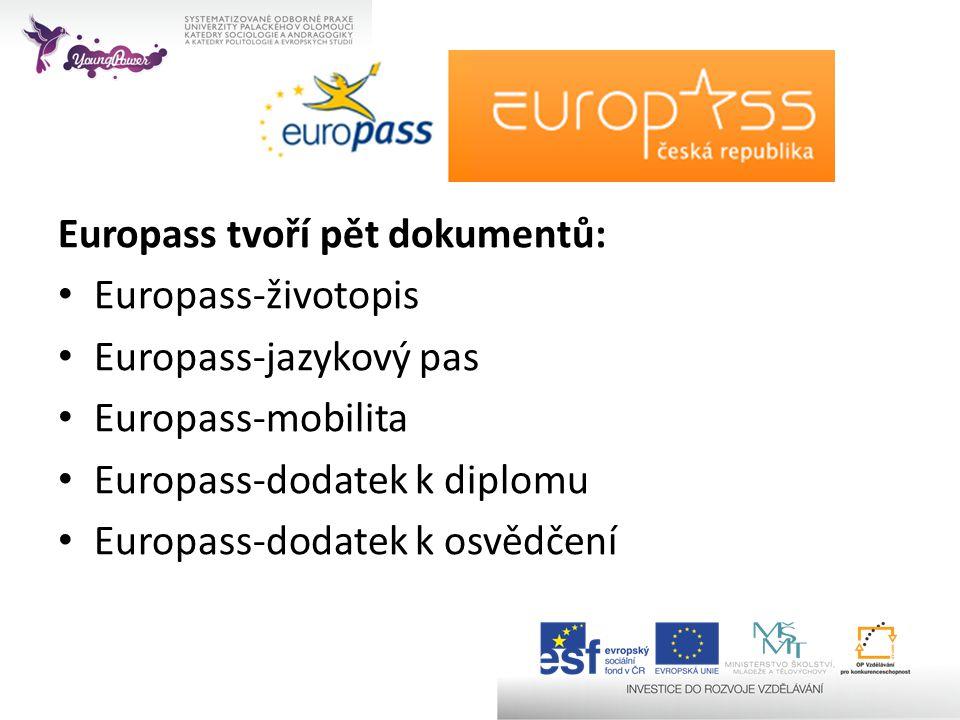 Europass tvoří pět dokumentů:
