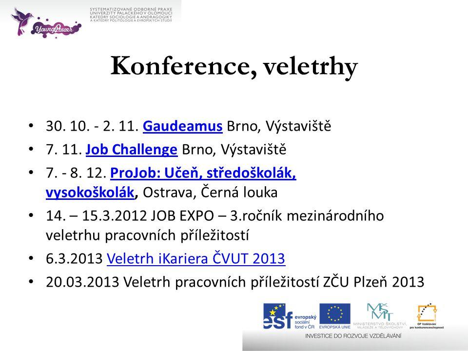 Konference, veletrhy 30. 10. - 2. 11. Gaudeamus Brno, Výstaviště