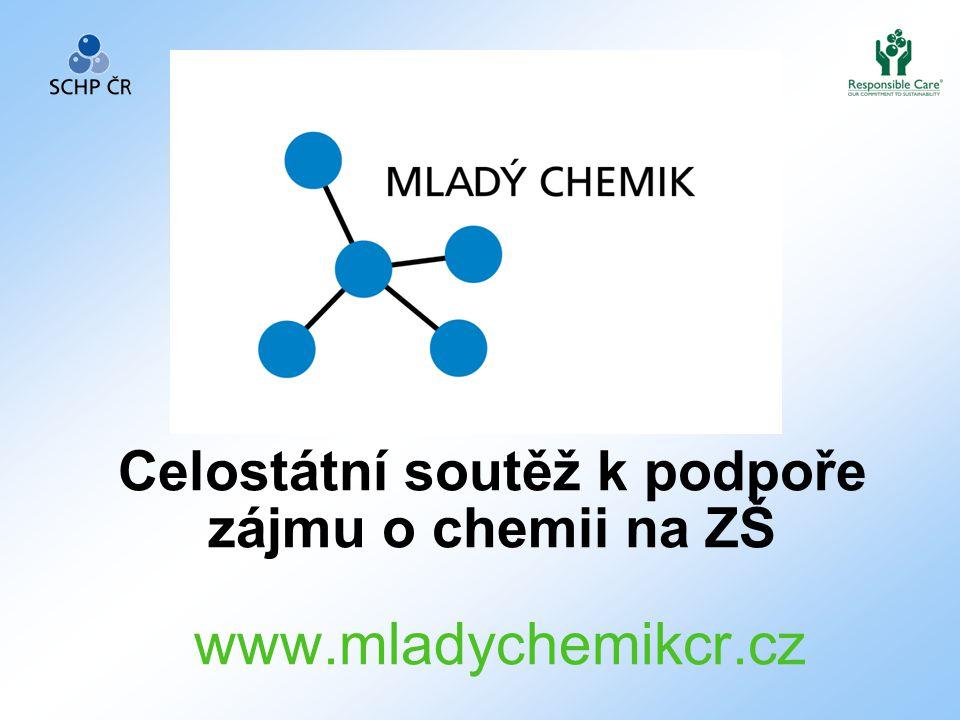 Celostátní soutěž k podpoře zájmu o chemii na ZŠ www.mladychemikcr.cz