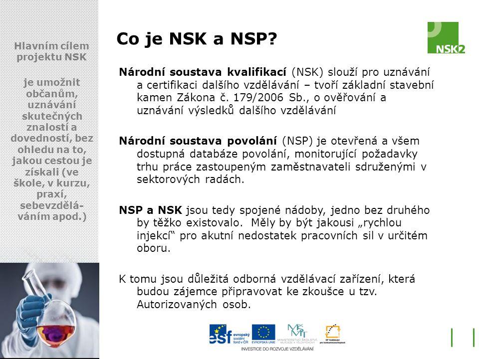 Hlavním cílem projektu NSK