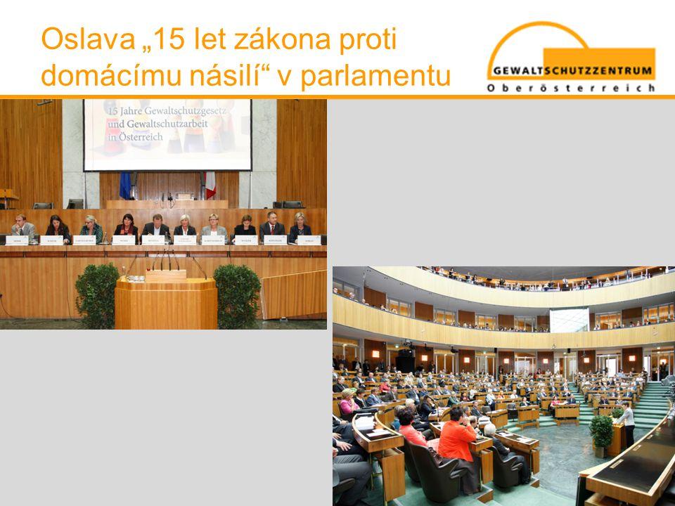 """Oslava """"15 let zákona proti domácímu násilí v parlamentu"""