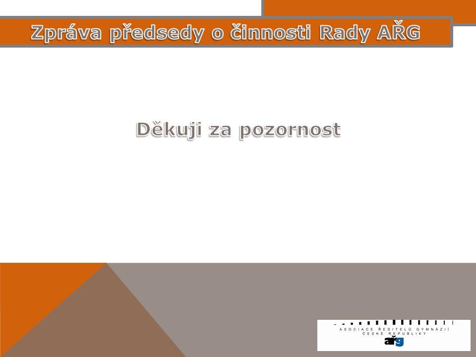 Zpráva předsedy o činnosti Rady AŘG