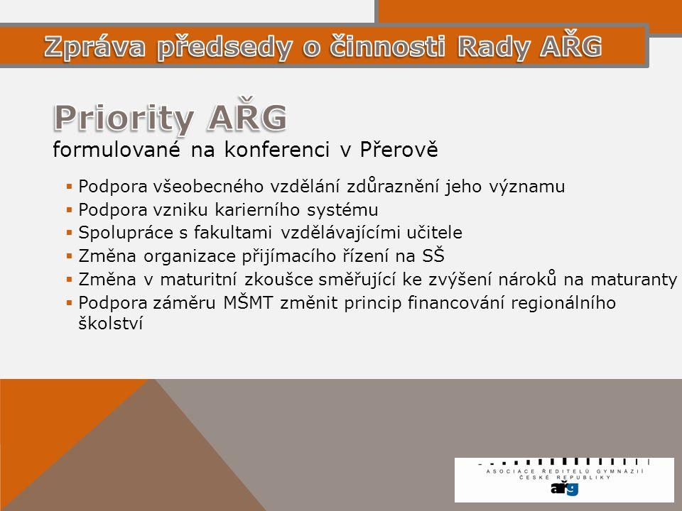 Priority AŘG formulované na konferenci v Přerově