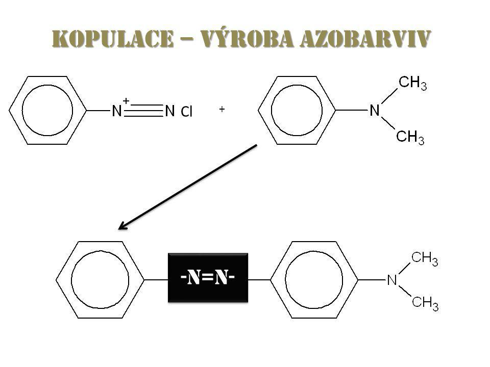 Kopulace – výroba azobarviv