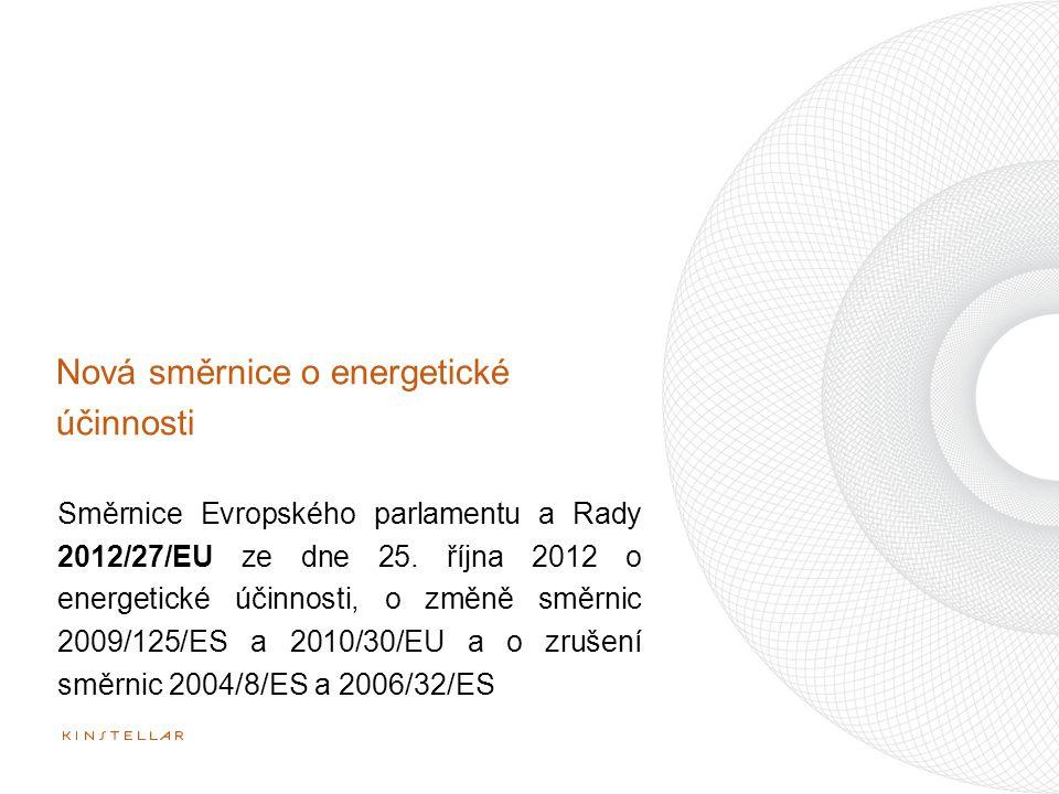 Nová směrnice o energetické účinnosti