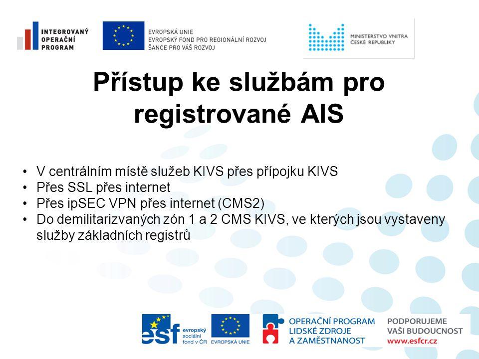 Přístup ke službám pro registrované AIS