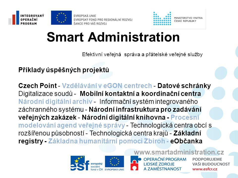 Smart Administration Příklady úspěšných projektů