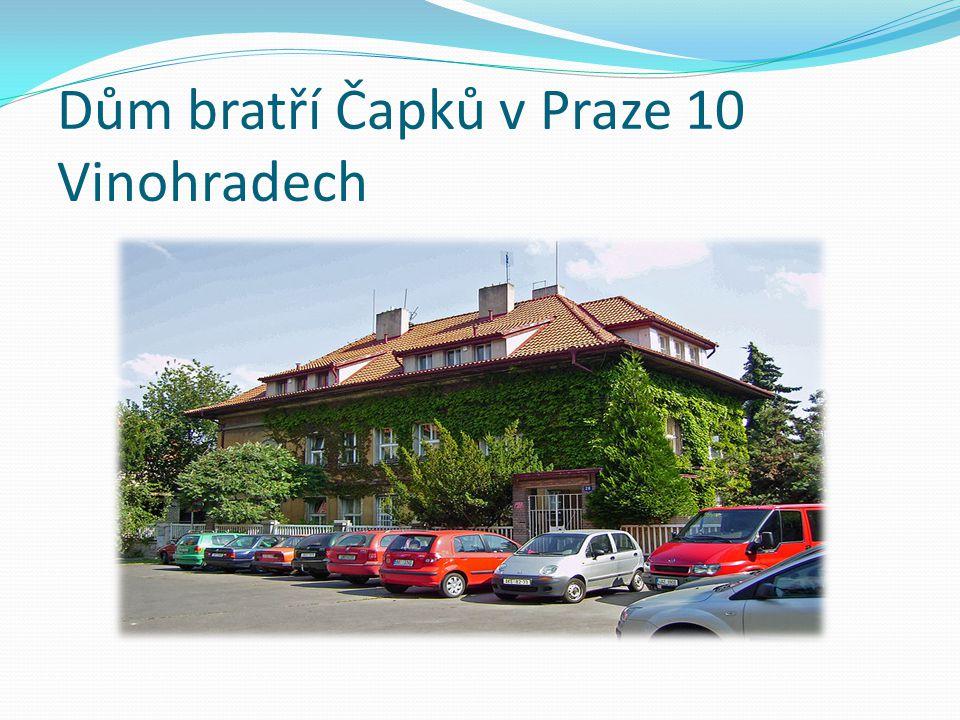 Dům bratří Čapků v Praze 10 Vinohradech