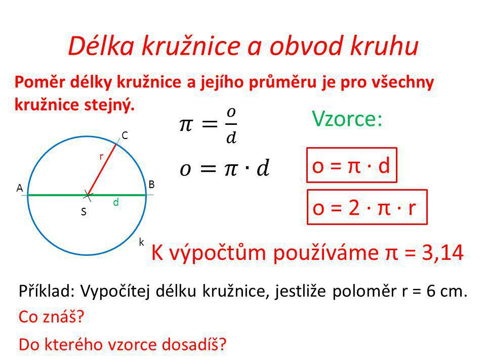 Délka kružnice a obvod kruhu