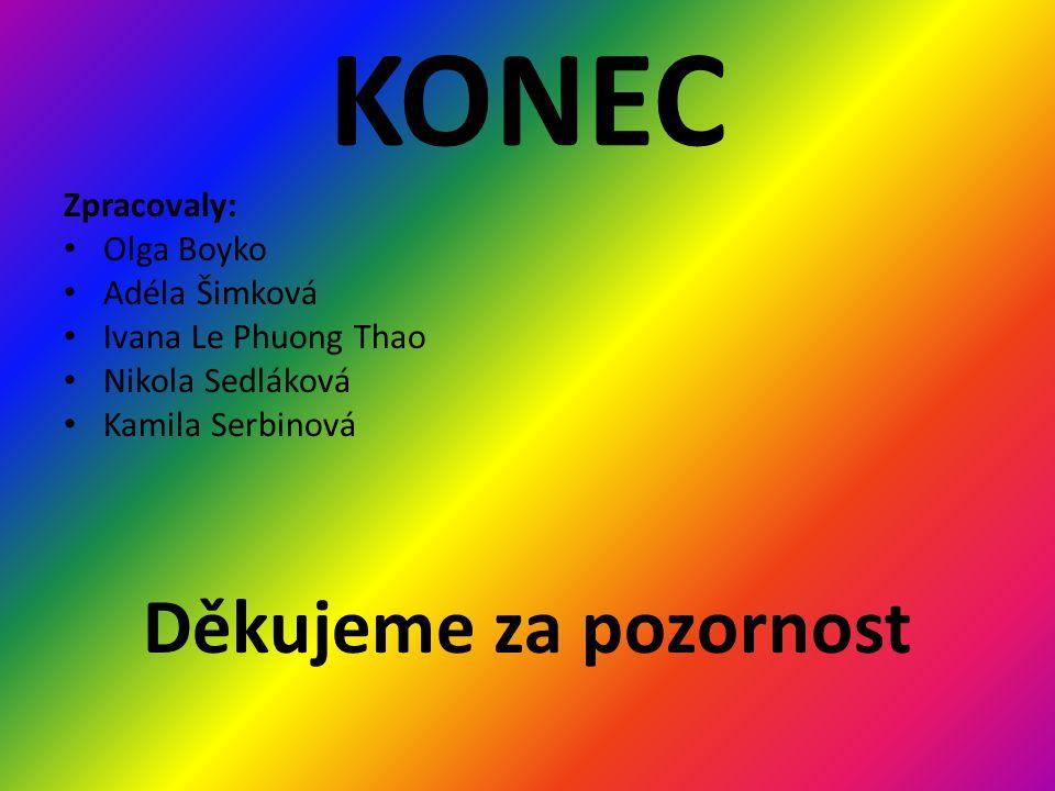 KONEC Děkujeme za pozornost Zpracovaly: Olga Boyko Adéla Šimková