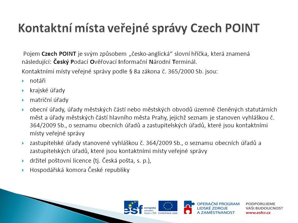 Kontaktní místa veřejné správy Czech POINT