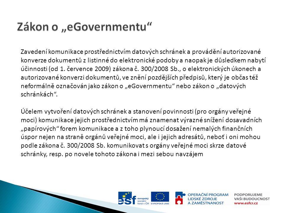 "Zákon o ""eGovernmentu"