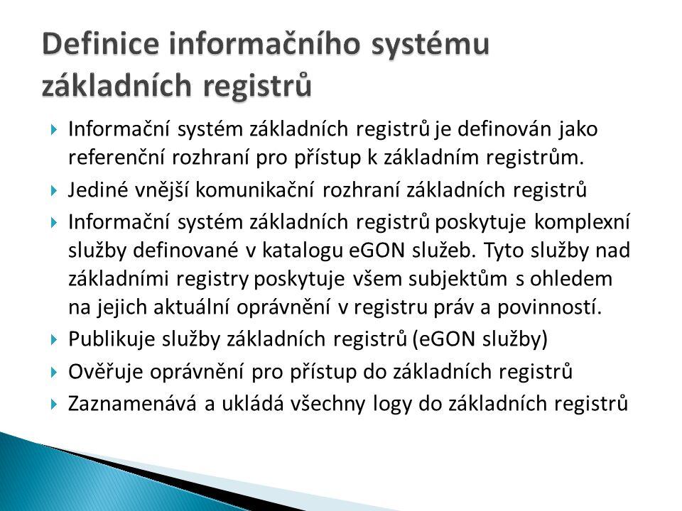 Definice informačního systému základních registrů