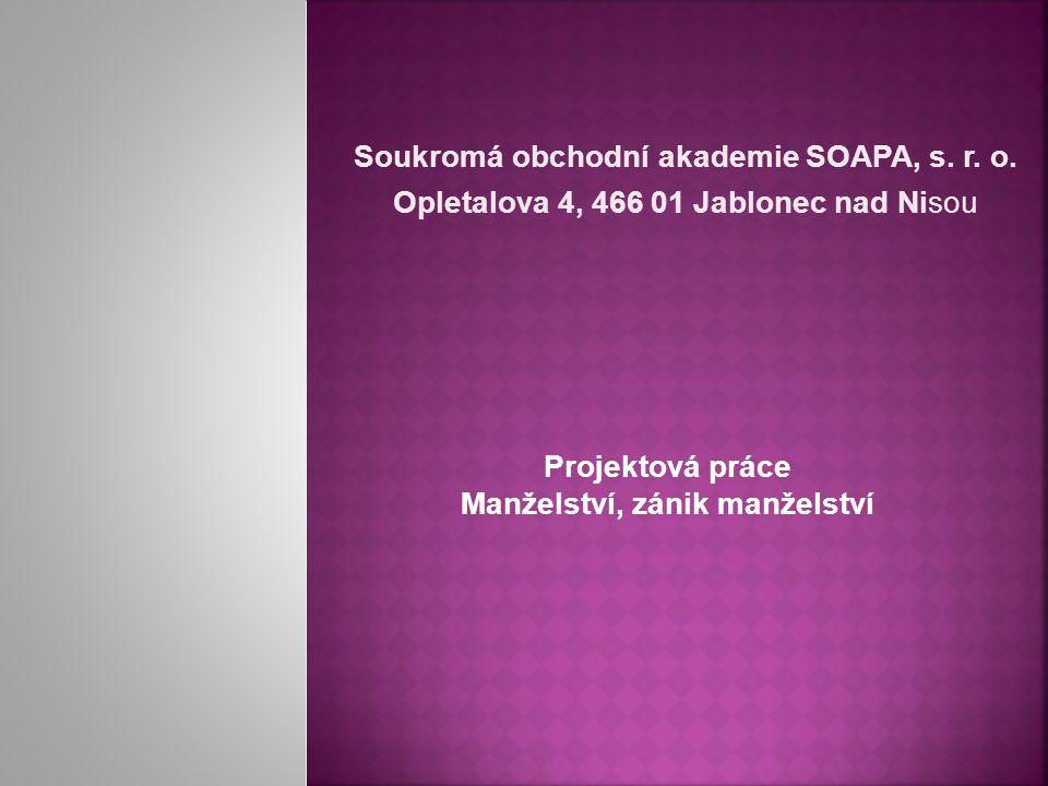 Soukromá obchodní akademie SOAPA, s. r. o.