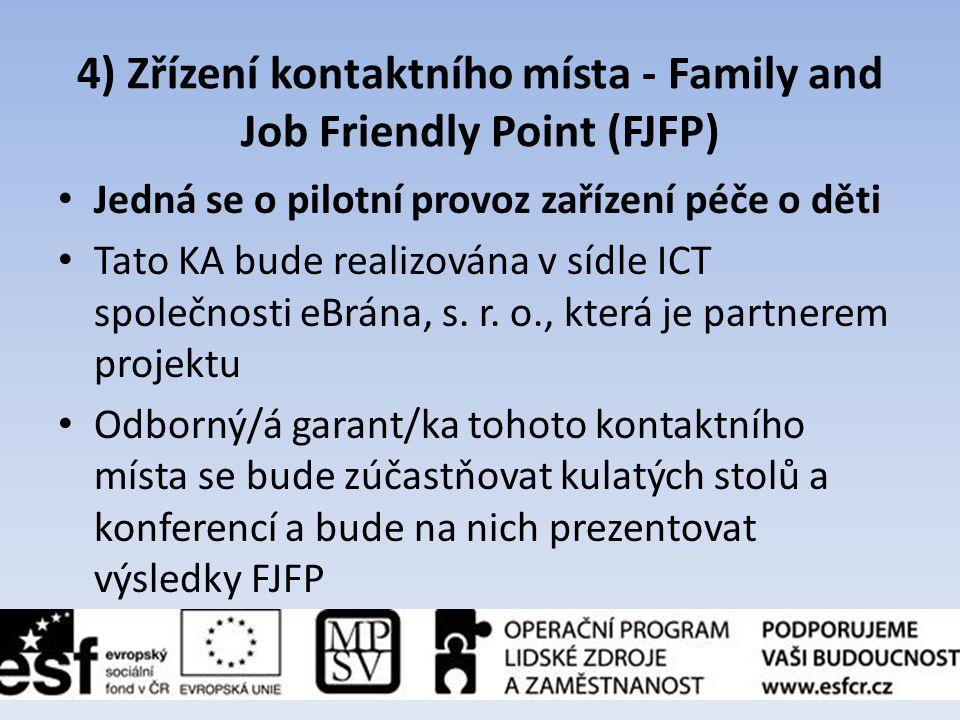 4) Zřízení kontaktního místa - Family and Job Friendly Point (FJFP)