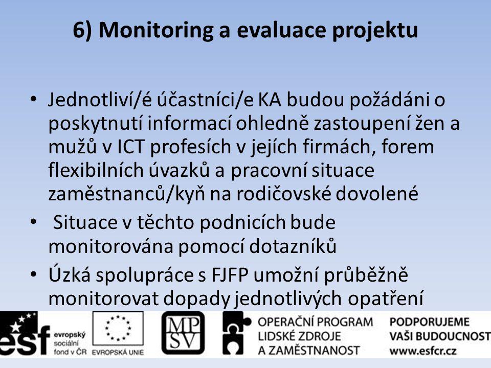 6) Monitoring a evaluace projektu
