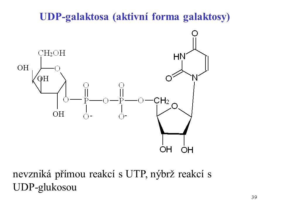 UDP-galaktosa (aktivní forma galaktosy)